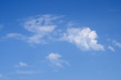 Blue cloudy sky.Background