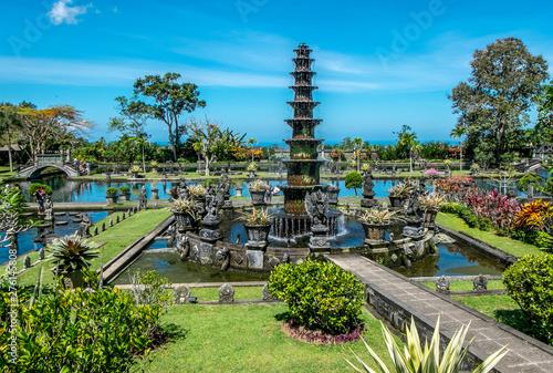 Fotografie, Obraz  Tirta Gangga, Water Palace with fountain and natural pond