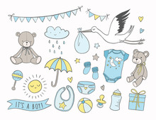 Baby Shower Vector Illustratio...