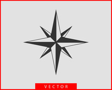 Compass Icon Vector. Wind Rose...