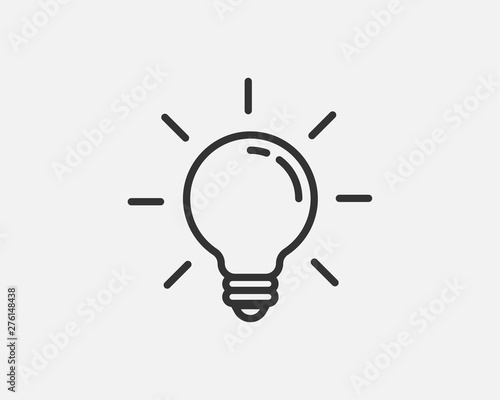 Light bulb icon vector Fototapeta
