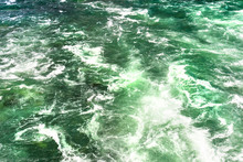 Background Made From A Rushing, Foamy River In A Beautiful Turquoise And Green Color.