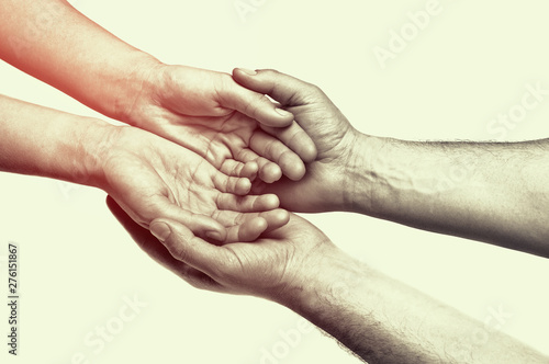 Carta da parati Concept of caring, tenderness, protection