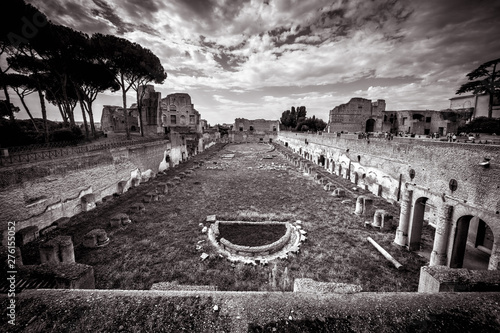 Photo  Ruins of the Stadium of Domitian on the Palatine Hill, Rome