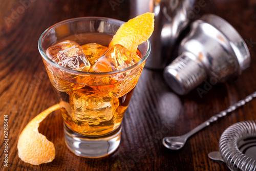 Old Fashioned Cocktail Obraz na płótnie