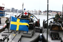 Swedish Army And Navy With Combat Boats, Rib Boat, Dive Boat, Machine Guns Etc