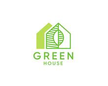 Green House Logo Design Vector, Nature House Logo