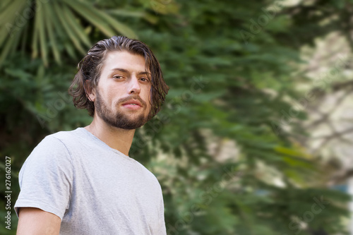 Fototapety, obrazy: Portrait of a modern young man with a beard