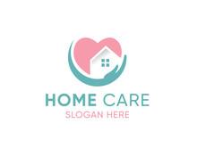 House Care Logo Template, Medical House Logo