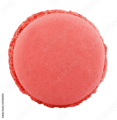 Fototapeta one macaroon cookie isolated on white background