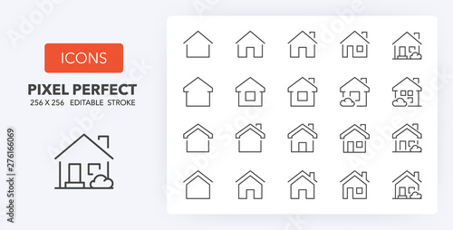 Canvas home line icons 256 x 256