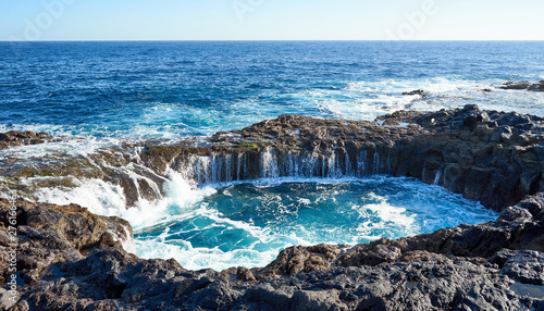 "Fotografie, Obraz  ""El Bufadero"" - a natural blowhole on Grand Canary Island"