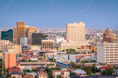 Aluminium Prints Texas El Paso, Texas, USA Downtown Skyline