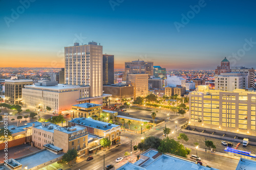 Canvas Prints Countryside El Paso, Texas, USA Downtown Skyline