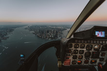 New York And Manhattan View From The Helicopter