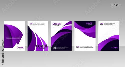 Poster Abstract wave Abstract minimal cover or poster design template. Vector illustration.