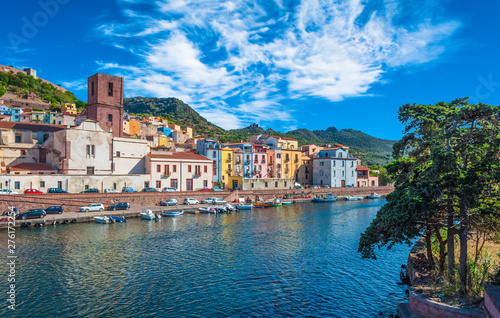 Old village of Bosa on the river Temo Wallpaper Mural