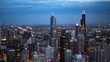 Chicago in the evening - aerial view - travel photography