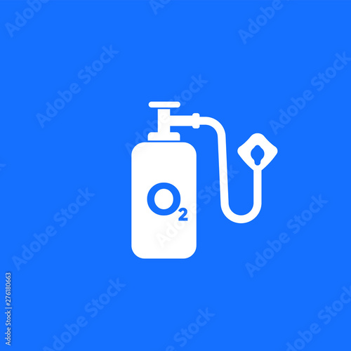 oxygen tank and mask, vector icon Fototapete