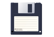 Diskette Or Floppy Disk Is An Old Medium To Store Information On Retro Computers