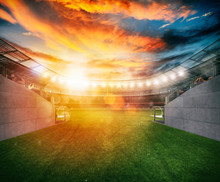Soccer Stadium Seen By The Exi...