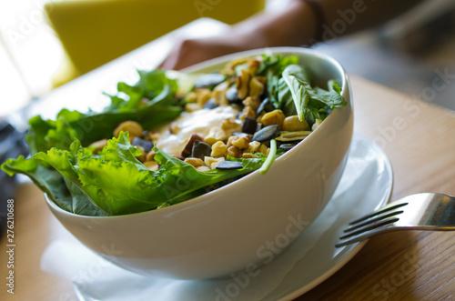 Bowl of tasty salad
