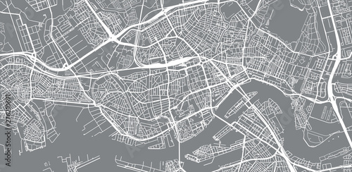 Foto op Canvas Rotterdam Urban vector city map of Rotterdam, The Netherlands