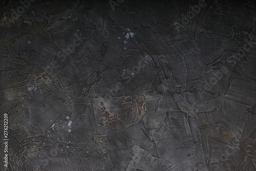 Poster Concrete Wallpaper Dark background texture. Blank for design.