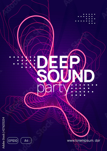 Music poster  Dynamic gradient shape and line  Abstract