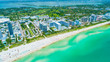 Leinwanddruck Bild - Aerial view city Miami Beach. South Beach. Florida. USA.