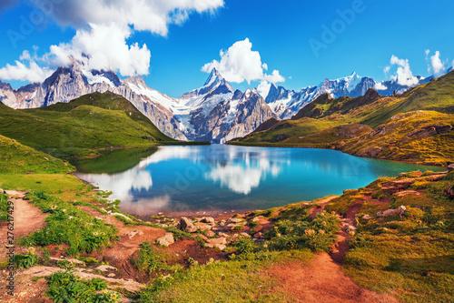 Valokuvatapetti Scenic view on Bernese range above Bachalpsee lake