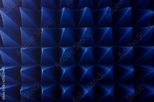 Photo  Hybrid pyramidal RF absorbers close up