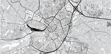 Urban Vector City Map Of Amersfoort, The Netherlands