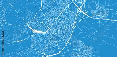 Urban vector city map of Amersfoort, The Netherlands Canvas Print