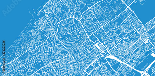 Fotografía Urban vector city map of The Hague, The Netherlands