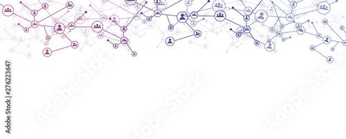 Fotomural  rete, intrecciata, persone, condivisioni, network, tecnologia,