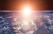 Sunrise on earth. The elements of this image furnished by NASA.