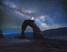 Delicate Arch Under The Milky ...