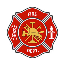 Fire Department Emblems, Label...
