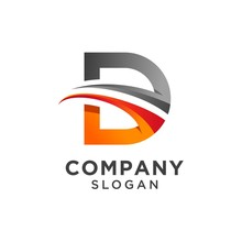Creative Letter D Logo Design. Vector Illustration