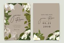 Eco Brown Wedding Invitation, ...