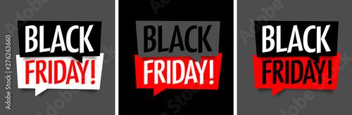 Obraz Black friday on speech bubble - fototapety do salonu
