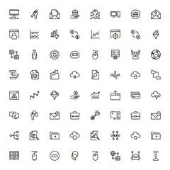 Digital marketing icon set.
