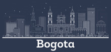 Outline Bogota Colombia City S...