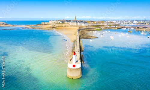 Beautiful view of the city of Privateers - Saint Malo in Brittany, France Wallpaper Mural
