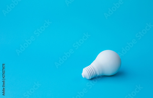 Ideas inspiration concepts with lightbulb on pastel color background