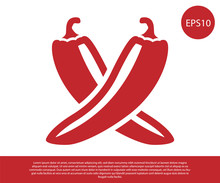 Red Crossed Hot Chili Pepper P...