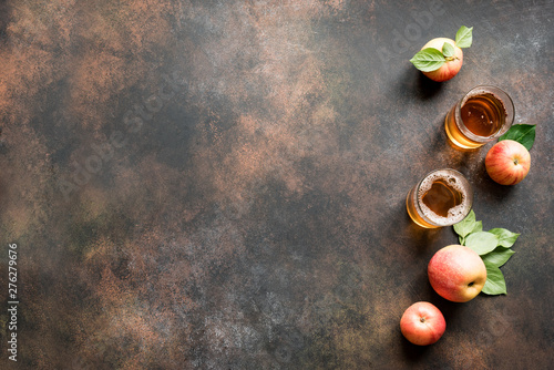 Canvas Print Apple cider drink
