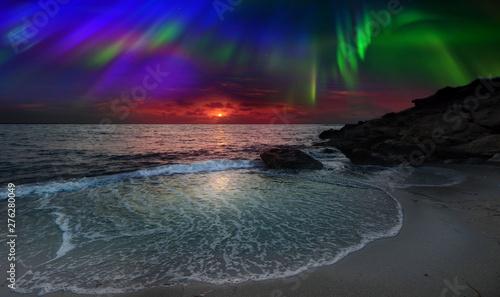 Foto auf Gartenposter Nordlicht Night Northern Lights is just an amazing sight.