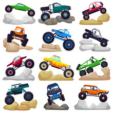 Monster Truck Vector Cartoon V...